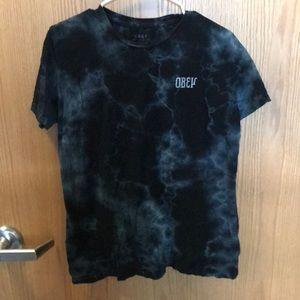 Obey blue tie dye t-shirt